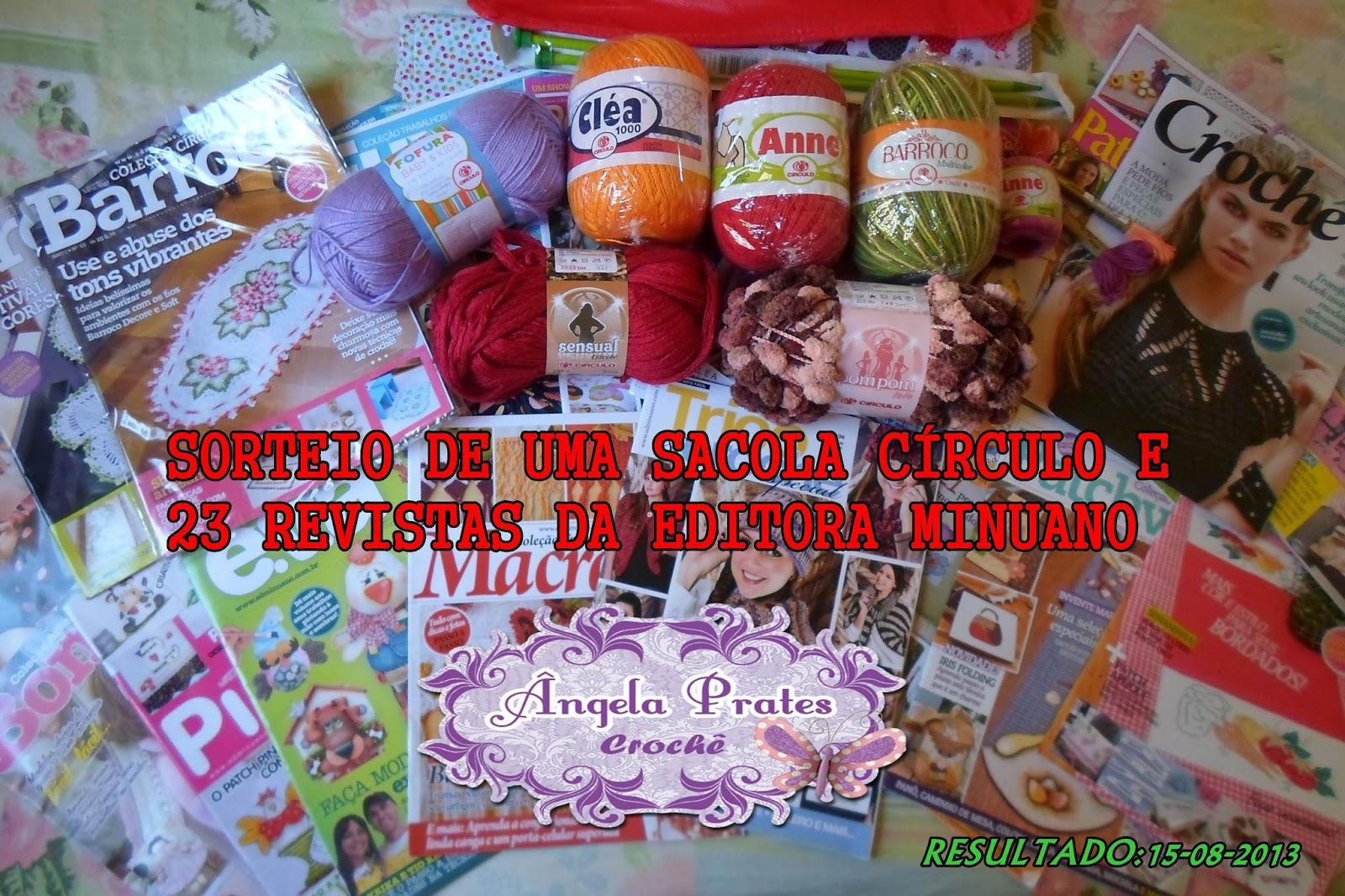 SORTEIO 15-08 ANGELA PRATES CROCHE
