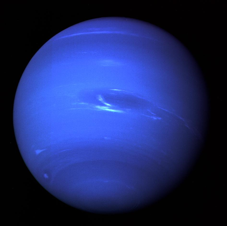 Нептун, снятый Вояджером-2 в 1989 году
