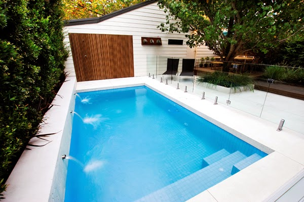 Small pool ideas for small yard for Residential swimming pool designs