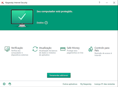ANTIVÍRUS KASPERSKY INTERNET SECURITY - MULTIDISPOSITIVO 2016 + SERIAL E TRIAL RESET
