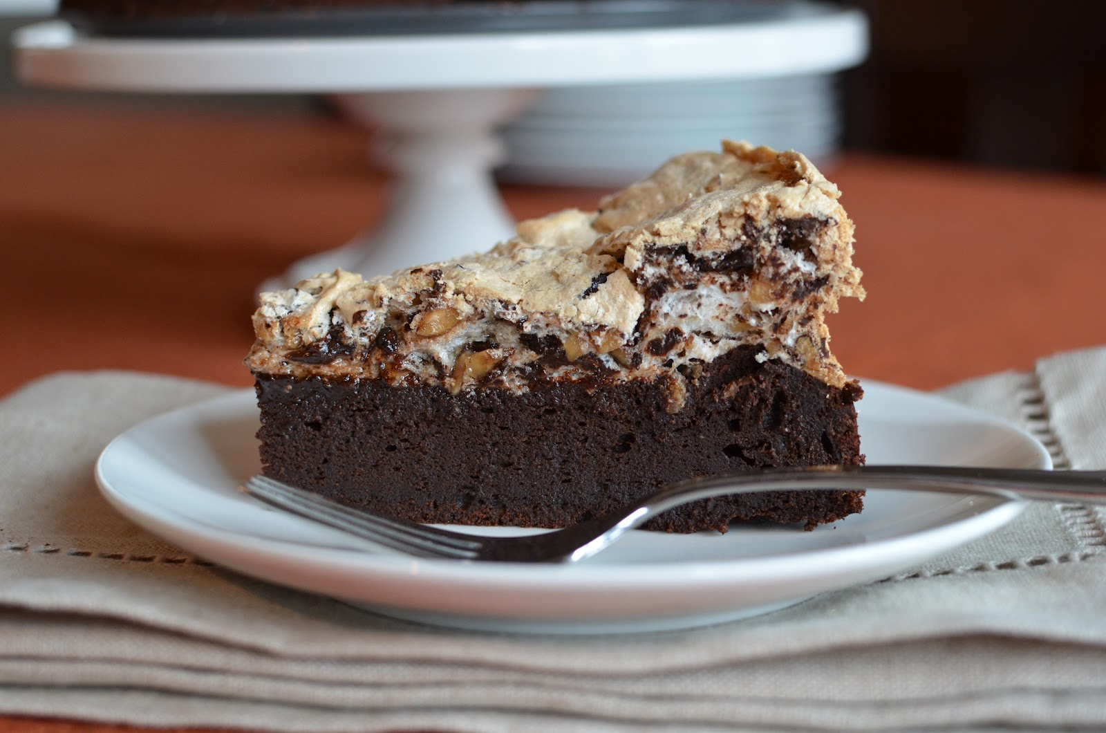 Chocolate And Hazelnut Meringue Cake Recipe — Dishmaps
