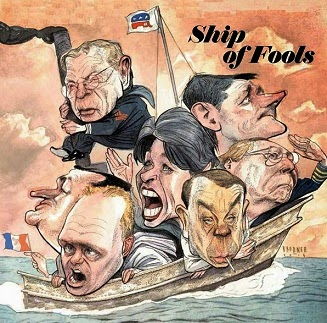 Steve Brodner: Ship of Fools, Nation.