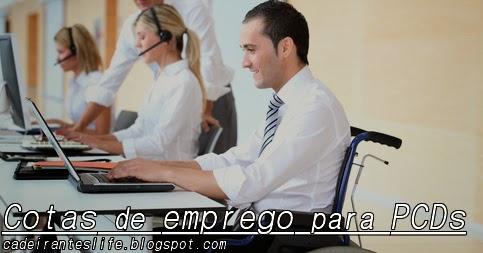Cotas de emprego para PCDs
