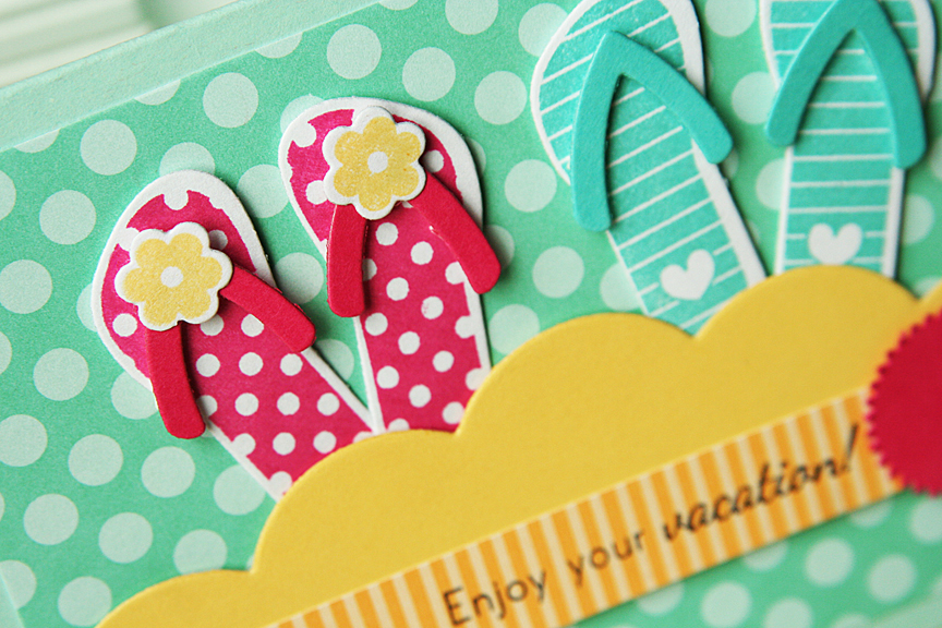 This One Is A Quickly Stamped Card These Would Both Be Great For Teacher To Wish Them Happy Summer Vacation I The Flip Flops As If They Were