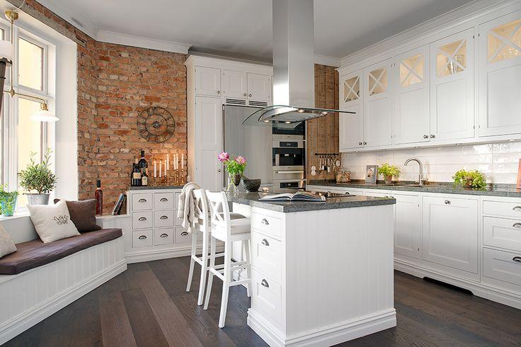 50 pomysłów na czerwona cegłę w waszej kuchni!  Bajkowe   # Kuchnia Z Cegiel