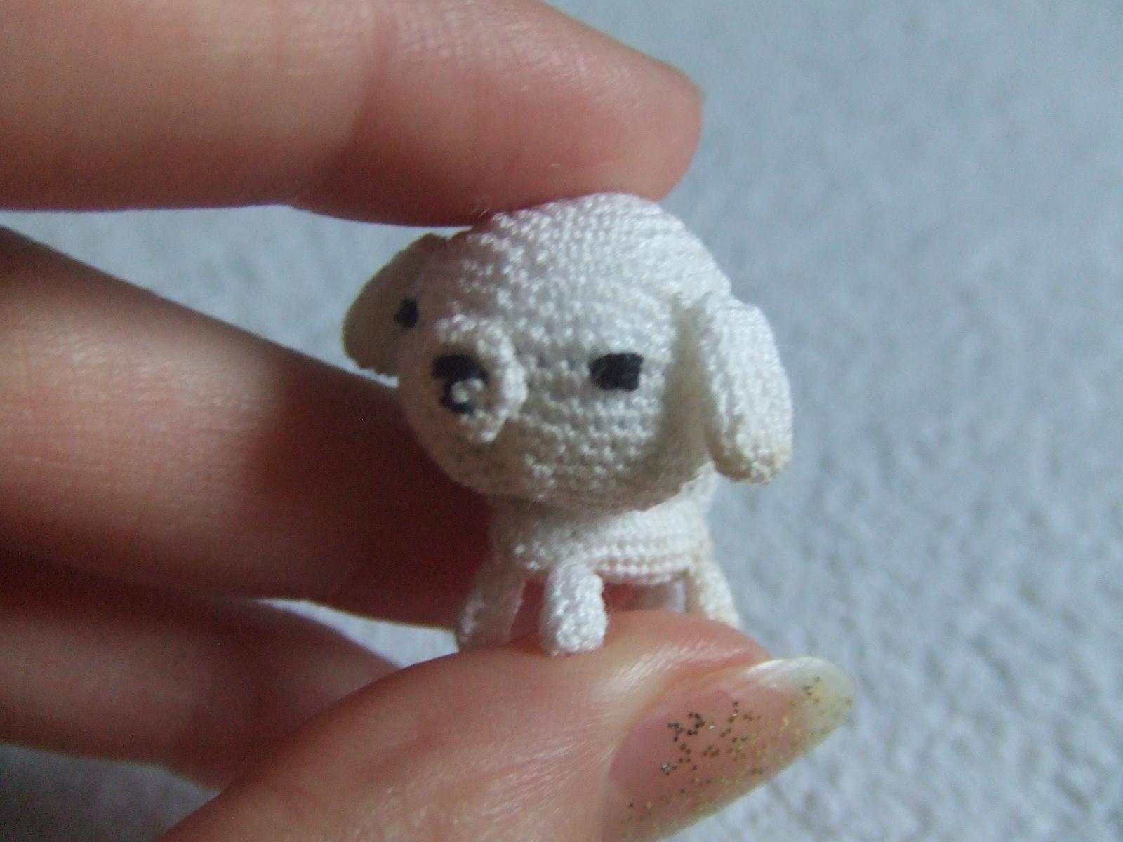 Mini Amigurumi Blog : Zombie Lili: Another Mini-Mini Amigurumi dog