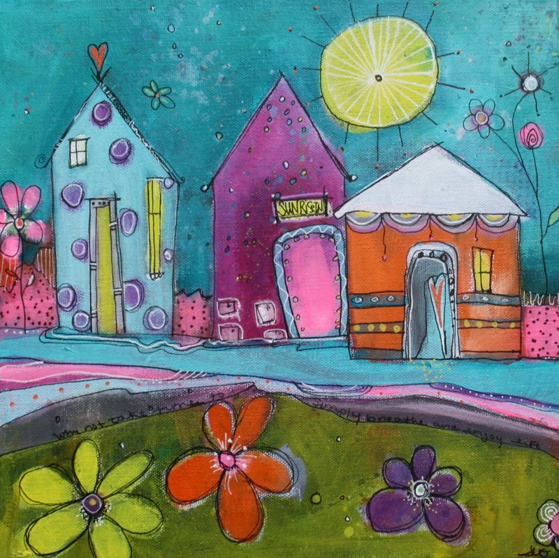 Get Whimsical with My Funky Little Cityscapes Class!