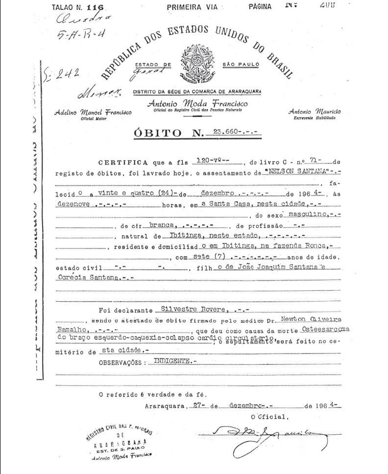Portuguese Script Tutorial - Death Records