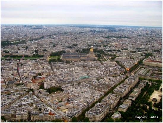 Musée du Louvre from Eiffel Tower