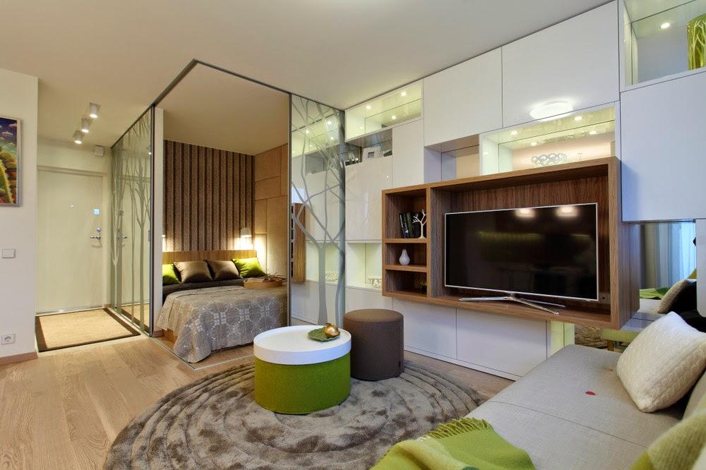 Дизайн студии 34 кв м