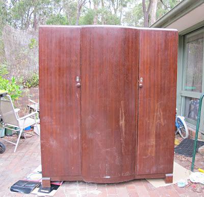 image vintage wardrobe brown doors