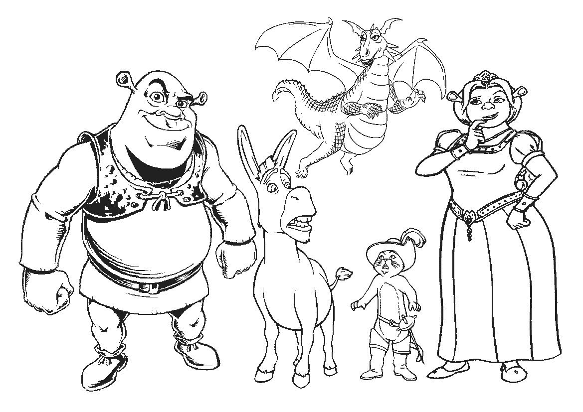 cartoons coloring pages shrek coloring pages