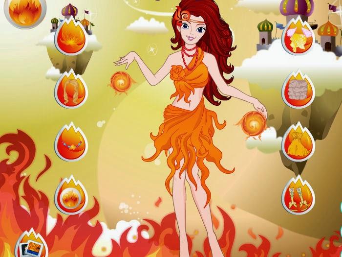 juego vestir princesa fuego