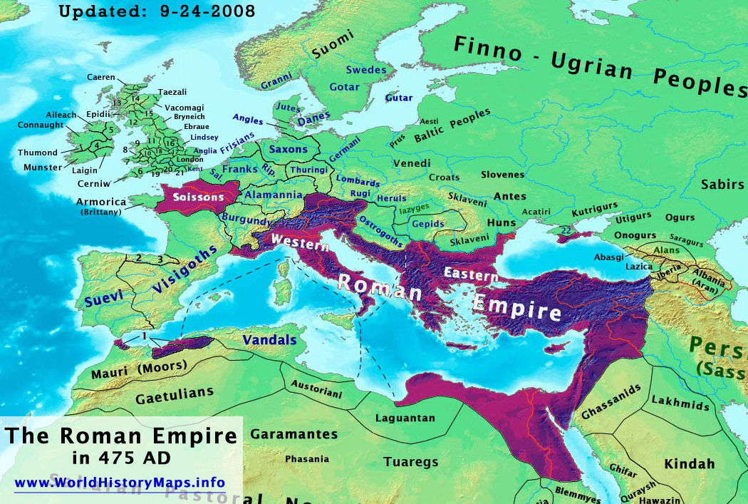 a discussion about the changes in western europe from the fall of the roman empire until 1000 a d What happened after charlemagne's death a: centralized institutions within europe would never fade again as it had after the fall of the western roman empire.