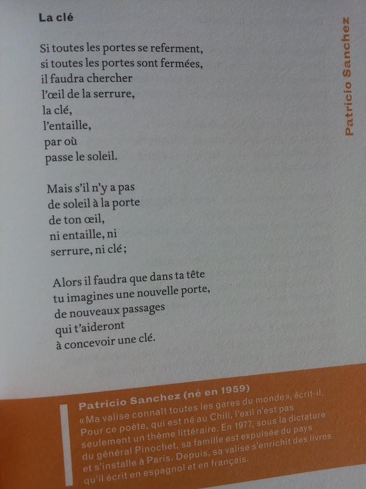 La clé, Patricio SANCHEZ-ROJAS - Passagers d'exil, Editions Bruno Doucey - France-Septembre 2017.-