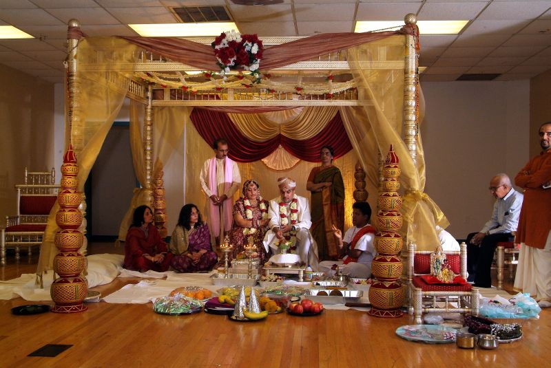 Traditional Indoor Mandap Wedding Design 4