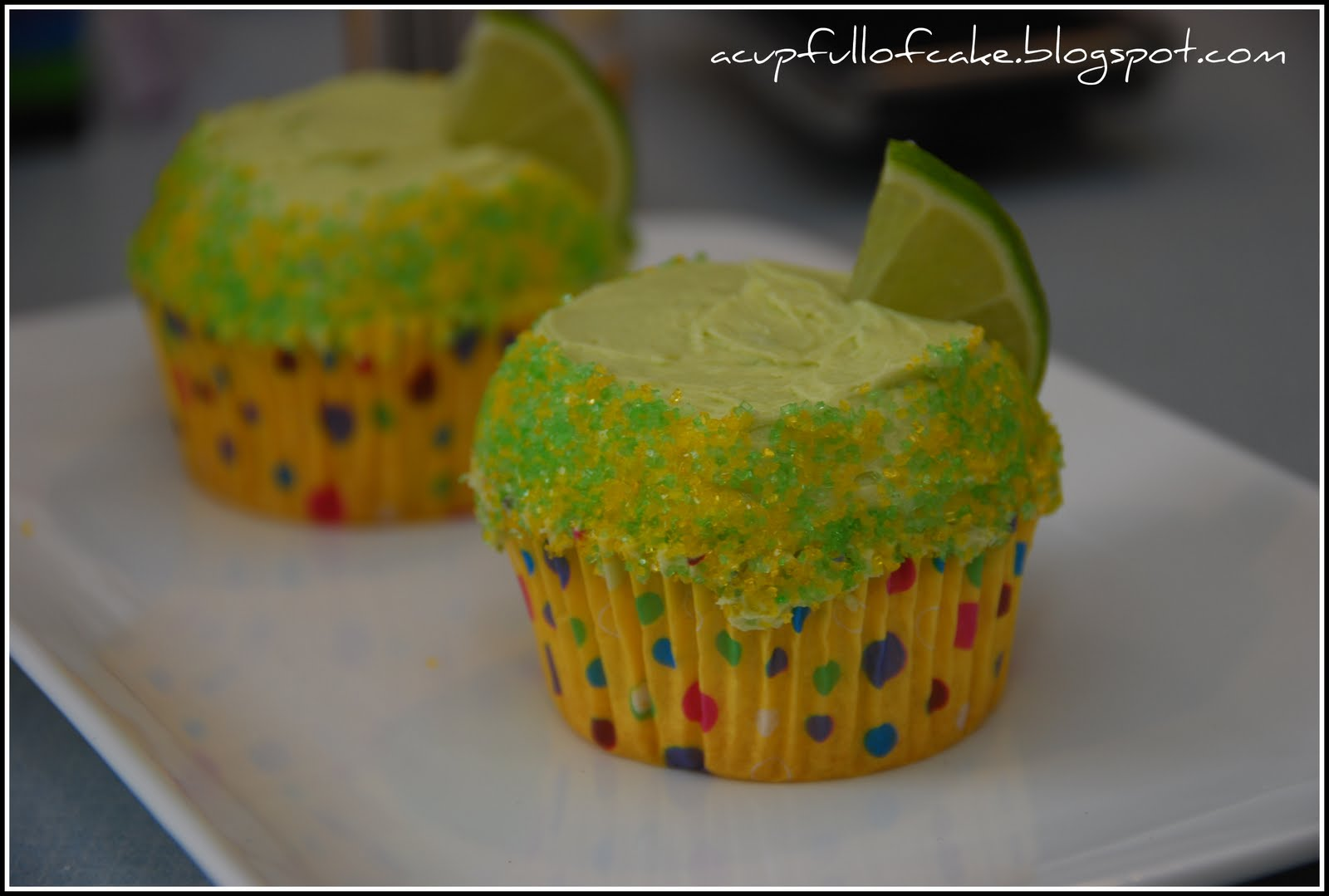 (these are my original margarita cupcakes found here)