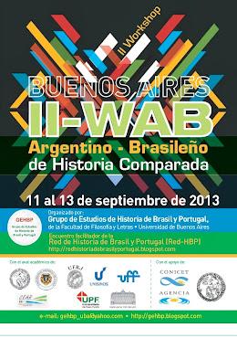 II-WAB: en Buenos Aires, entre los días 11 y 13 de septiembre de 2013