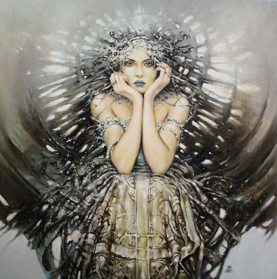 karol bak pinturas mulheres surreais sensuais cores