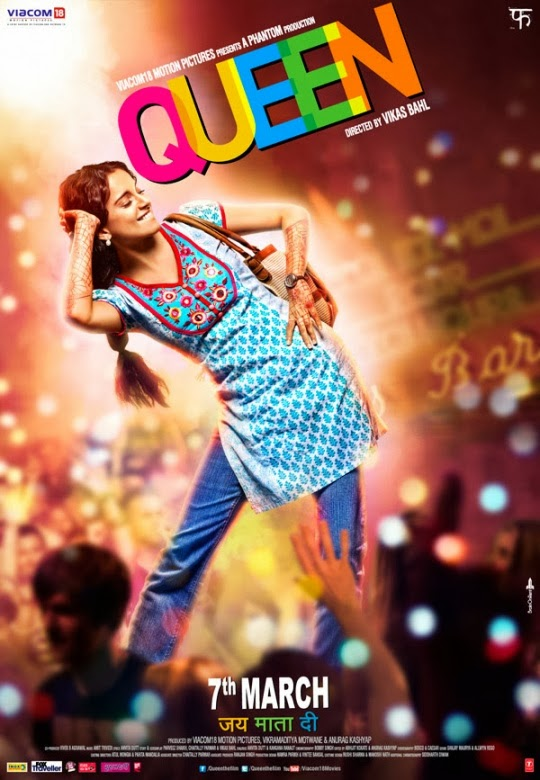 Official poster of Queen movie featuring Kangana Ranaut dancing in her own way