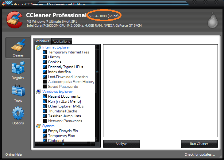 CCleaner 3.26.1888 (Professional/Business) Edition + Crack