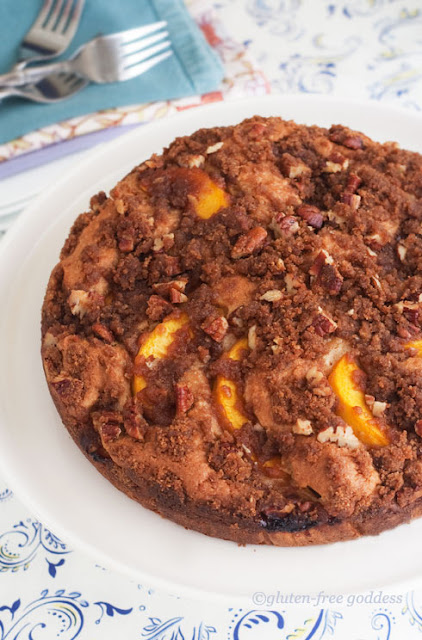 Gluten-Free peach Coffee Cake with Streusel Topping