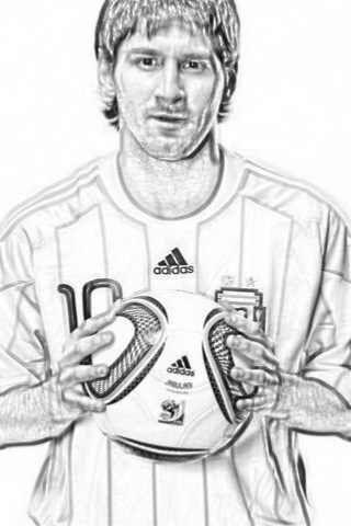 LAMINAS PARA COLOREAR  COLORING PAGES Lionel Messi para dibujar