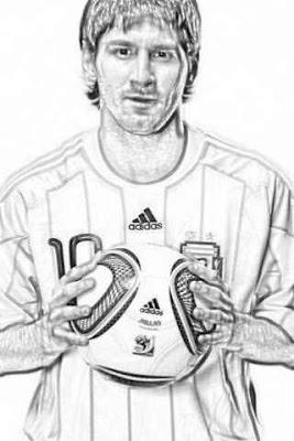 Lionel Thundercats on Lionel Messi Para Dibujar Y Colorear