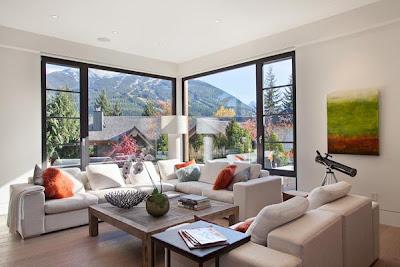 Desain Ruang Tamu Terbuka | Sumber gambar : Freshome.com