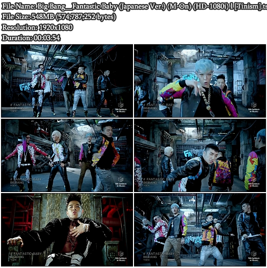 PV Big Bang - Fantastic Baby (Japanese Ver.) (M-On Full HD 1080i)