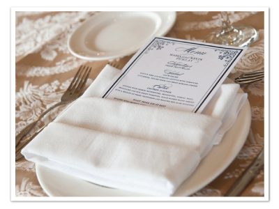 real wedding printable diy menu card design divinity