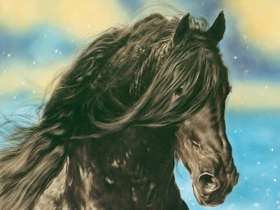 caballo-con-niña-pintura-al-oleo
