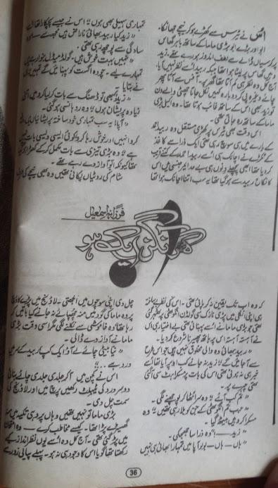 Ghar aangan aik ho by Farzana Ismail pdf