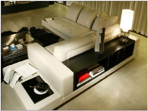 Decora y disena decoraci n de salas con sillones estilo - Mueble detras sofa ...