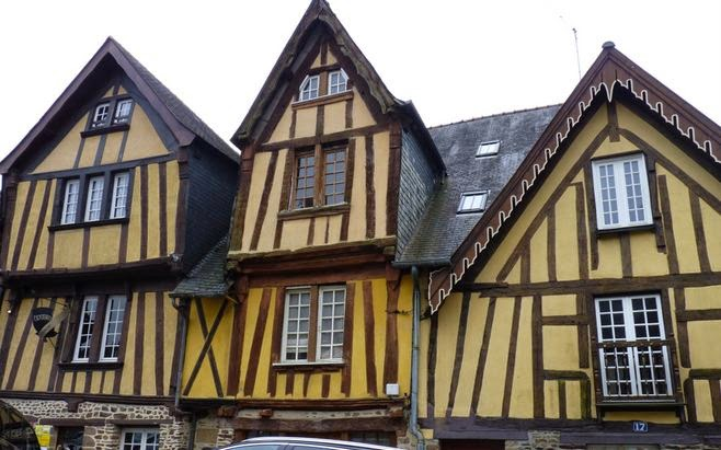 Casas de entramado de madera de Fougères.