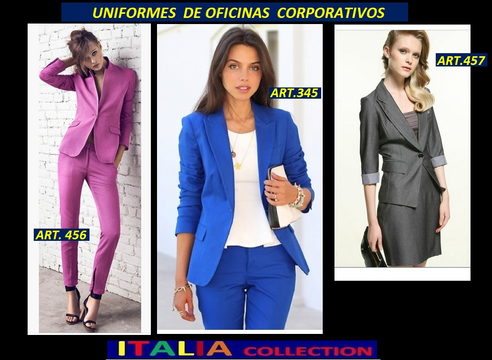 Uniformes de oficina 2015 trajes sastre para secretarias Diseno de uniformes para oficina 2017