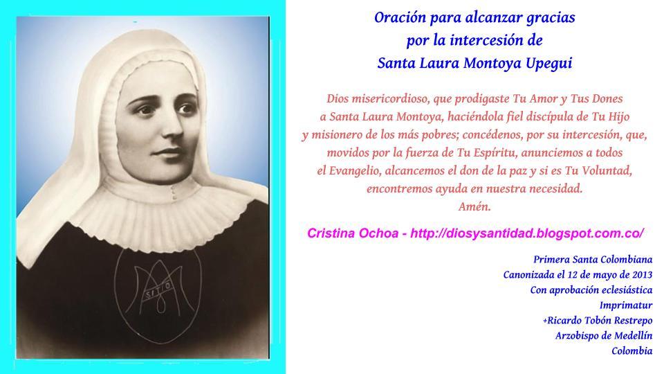 Oración Santa Laura Montoya