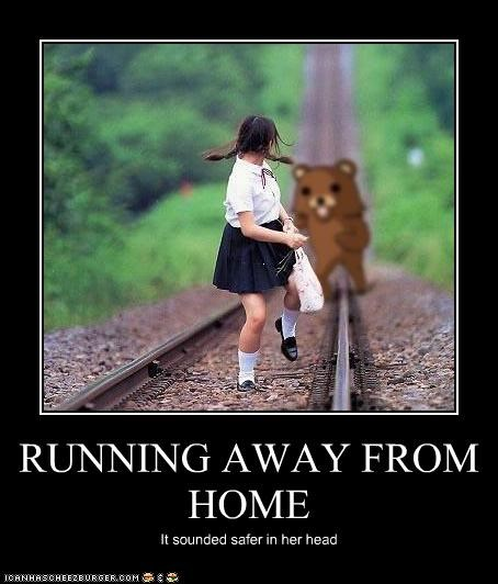 teen ager rununig away from home