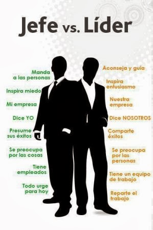 La diferencia entre jefe y líder