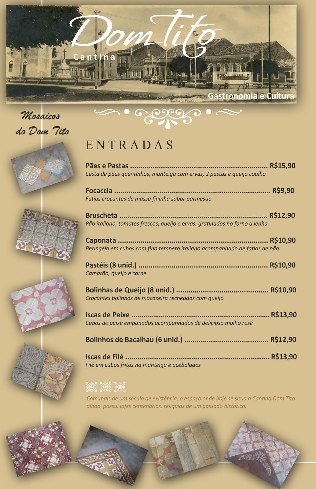 Visual Id25 Cardapio Restaurante Dom Tito Em Cascavel Ceara
