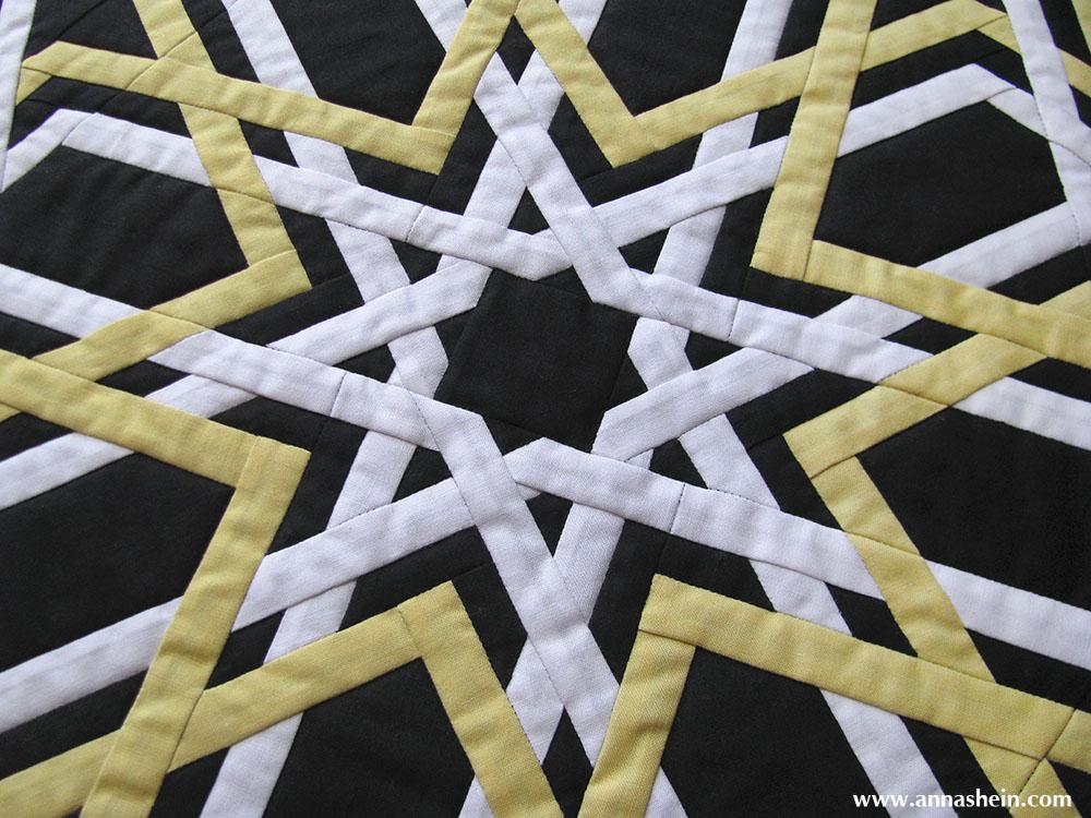 Квилт (лоскутное панно) с орнаментом. Шеин Анна
