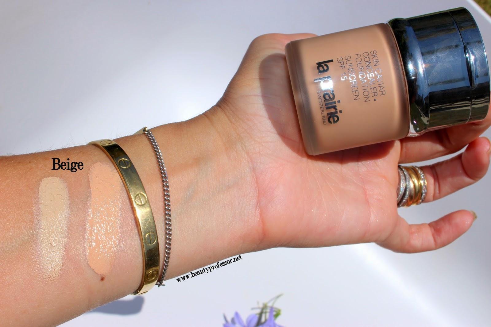 la prairie skin caviar foundation swatches