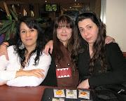 Laura Ponce, Claudia De Bella y Barbara Din tres chicas lindas