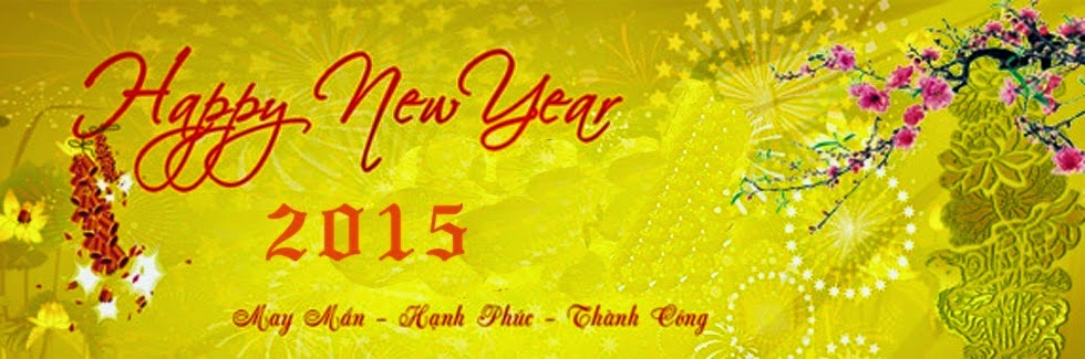 Ảnh bìa Facebook Happy new year 2015