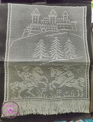 Gráficos de cortinas em crochê