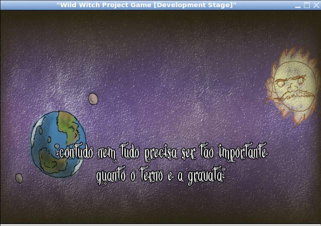 Pedaço do texto criado pelo Rodolpho para a intro do game