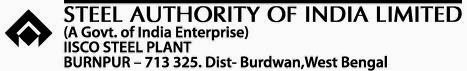SAIL Burnpur Job Vacancy Details Nov 2013