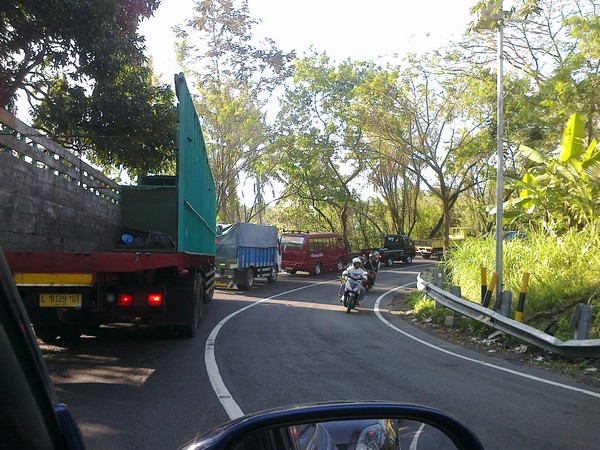 In Denpasar-Gilimanuk highway, always a jam, and the deadly accident