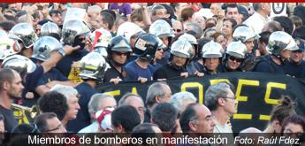 Los bomberos harán un cordón de seguridad en la manifestación del #23F para evitar enfrentamientos con la Policía