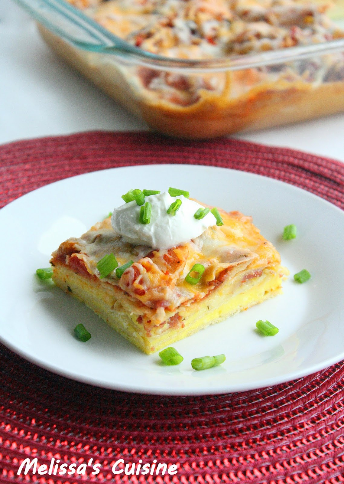 Melissa's Cuisine: Egg and Tortilla Breakfast Casserole